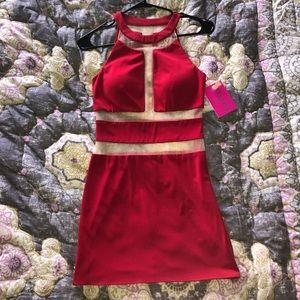 NWT Jovani mesh cut out dress